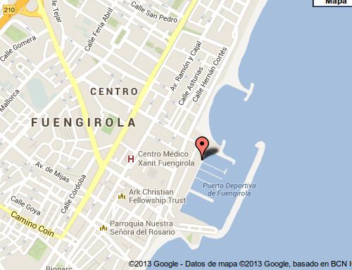 La chincheta señala la ubicación de Ku 'Damm. El mapa es gentileza de Google maps
