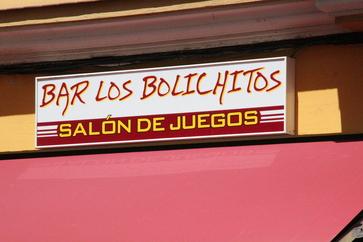 Bar Los Bolichitos. Salón de juegos
