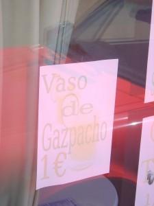 Vaso de Gazpacho 1€
