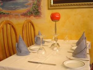 El Chanquete de Plata: Una mesa del interior