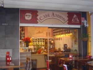 Entrada del Café Andino