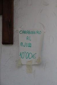 Otra oferta: Carabinero al ajillo 10 €