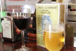 Detalle de barra y bebidas