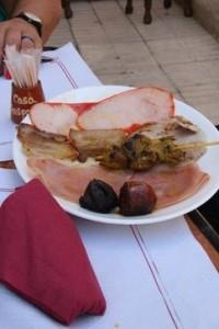 Plancha de carnes