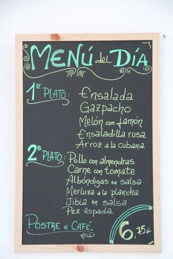 Menú del día 6,75€