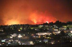 Varios focos de llamas