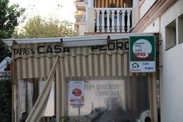 Entrada de Casa Pedro, observen que destaca que las tapas son a 1€