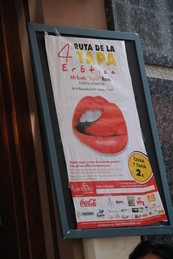 Cartel de participación en la Cuarta Ruta Erótica