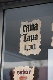 Caña + tapa 1,30 €