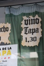 Vino + tapa, 1,30 €