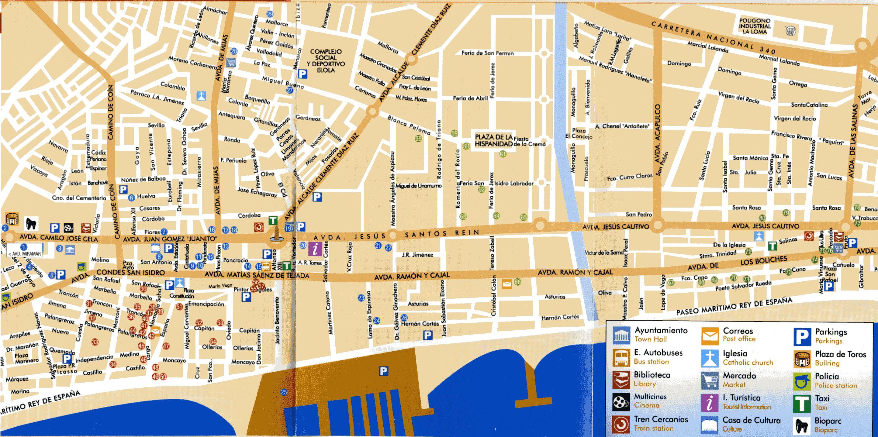 Mapa de las ubicaciones