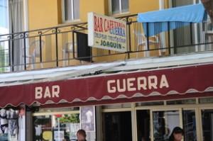 Entrada Bar Cafetería Guerra >>Joaquín<<