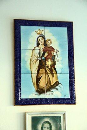 Cerámica de la virgen de los marineros: la virgen del Carmen