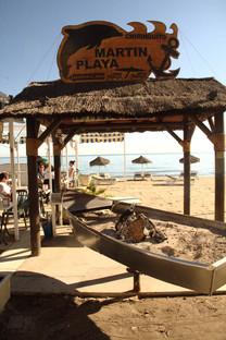 Bolichito para hacer espetos en el chiringuito Martín Playa