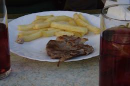 Chuleta de cerdo con patatas