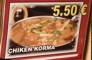 Pollo Korma 5,50€