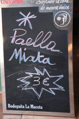Oferta: paella mixta 3€