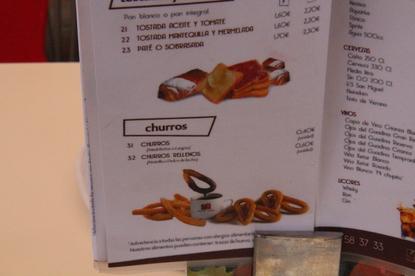 Para hacer honor a su nombre también hay churros a 0,40€ la unidad