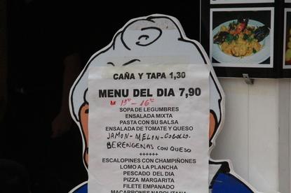 Menú del día 7,90€