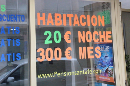 Habitación 20  e la noche. 300€ al mes