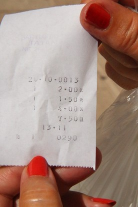 """Tinto de verano """"La Casera"""": 2€; caña: 1,50€. Bocadillo 3,50"""