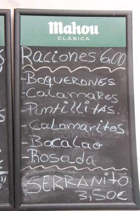Raciones 6€.