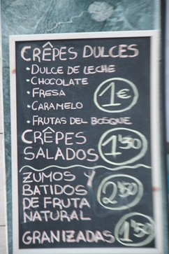 Crepes dulces 1€