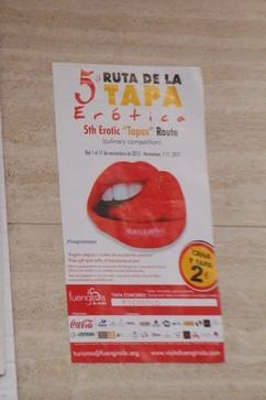 cartel de participación en la Quinta Ruta