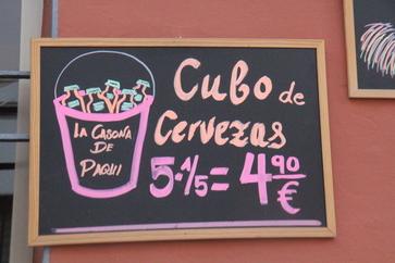 Los cubos de cerveza se están poniendo de moda en Fuengriola. Aquí tienes 5 cervezas de 1/5 por 4,90€