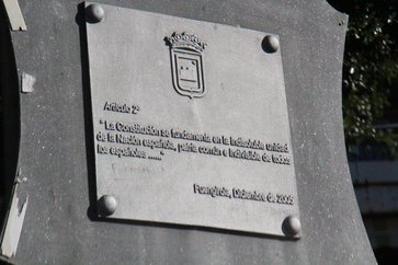 Monumento a la Constitución placa conmemorativa