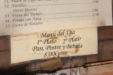 Menú del día 8€