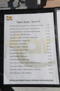Tapas desde 1€