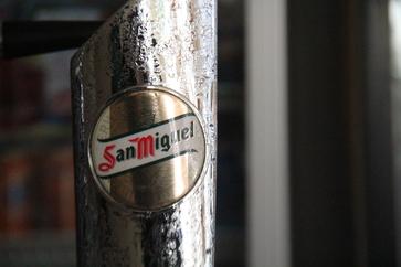 La cerveza es San Miguel