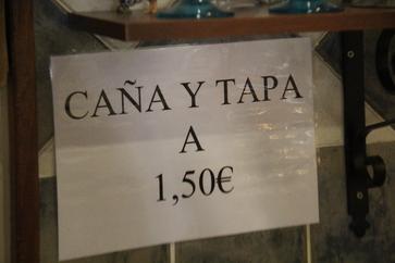 Caña y tapa 1,50€