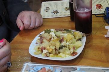 Tinto de evrabo y patatas de Coín