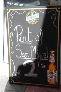 Pinta de San Miguel 2,10€