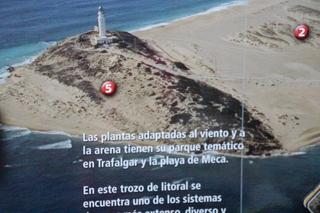 Maqueta del faro de Tarifa en el Centro de Interpretación del Parque Natural de la Breña y Marismas de Barbate