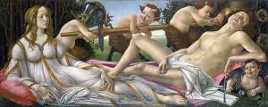 Venus y Marte de Boticelli. Gentileza de Wikimedia