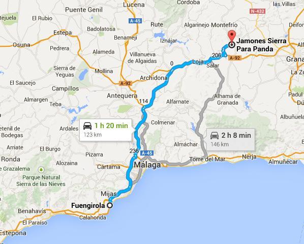 Ruta: desde Fuengriola a Parapanda