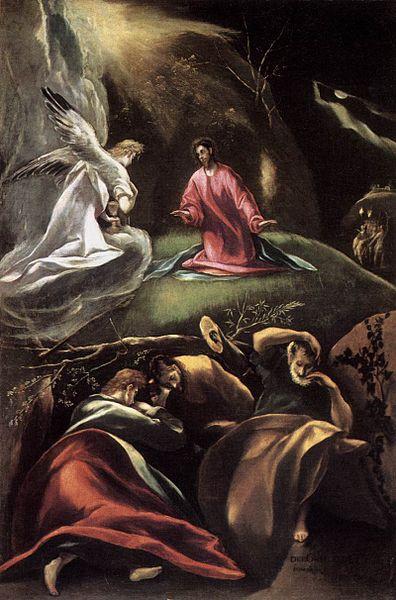La oración del huerto del Greco. Foto gentileza de Wikimedia. Licencia: dominio público. Subido a Wiki por Niplos. ¡Gracias Niplos!