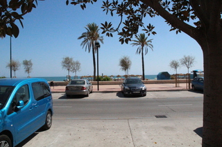 Lqa playa vista desde la terraza del restaurante Great Wall (La Gran Muralla)