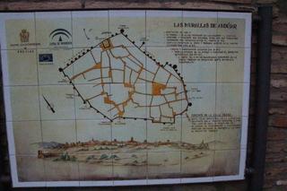 Plano cerámico de las murallas de Andújar