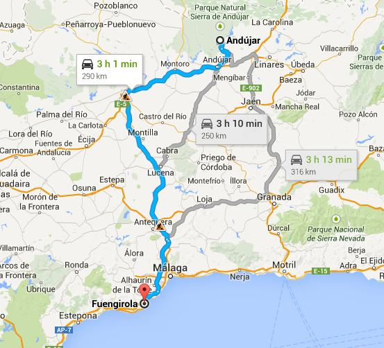 Viaje de Fuengirola a Andújar