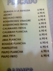 Raciones de pescado, todas a 6,90€