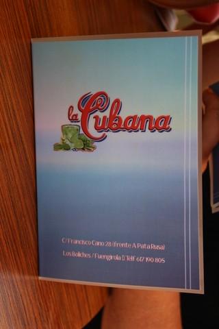 "Carta de ""La Cubana"""