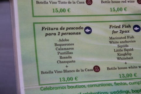 Fritura para dos personas 13€