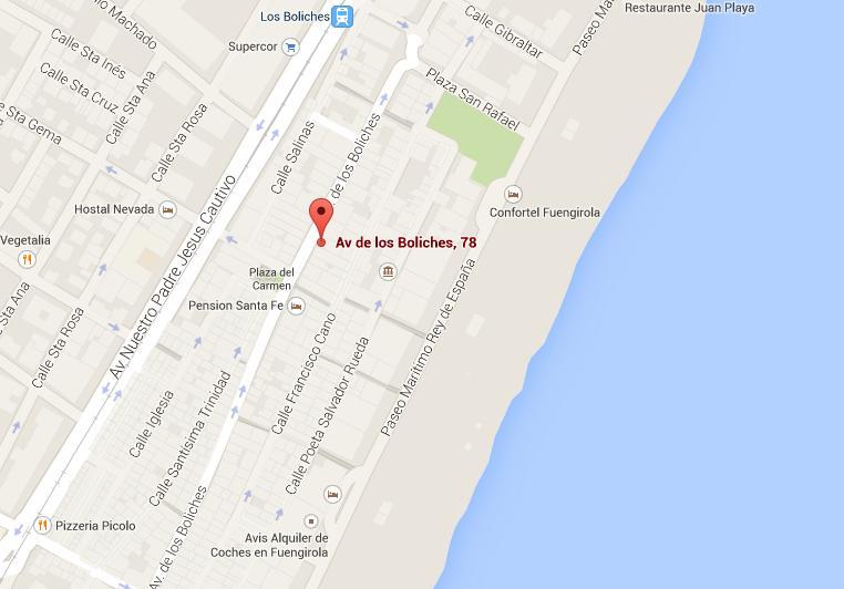 Ubicación. Mapa de Google Maps