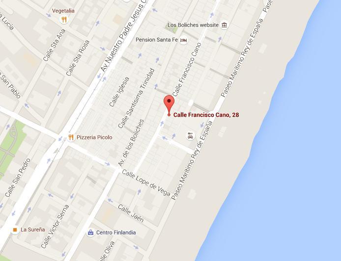 Ubicación. Mapa gentileza de Google