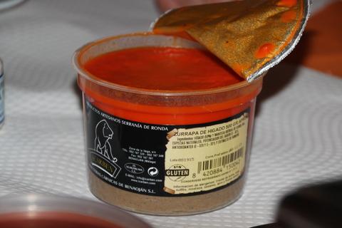 Zurrapa de hígado, fabricado en la Serranía de Ronda