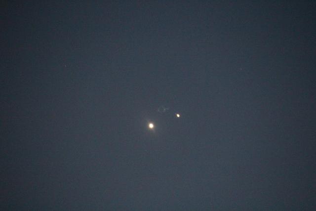 Venus y Júpiter desde fuengirola el día 1 de julio de 2015